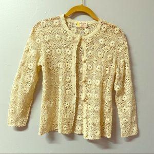 Vintage Shanghai Chinese Crochet Cardigan